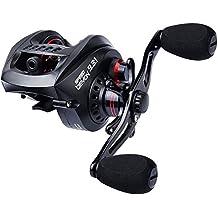 KastKing velocidad Demon 9,3: 1Carrete de pesca baitcasting–Baitcaster más rápido del mundo–12+ 1rodamientos de bolas blindado–de Fibra de Carbono Arrastre–asequible–Nuevo para 2017.