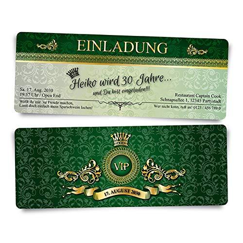 80 Geburtstagskarten Geburtstagseinladungen Einladungskarten zum zum zum Geburtstag VIP Grün Royale  Ticket Eintrittskarte B01IZS7J0M | Zahlreiche In Vielfalt  098196