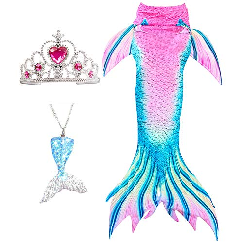 Mermaid Tail Tails Swimmable Costume Swimsuit for Girls