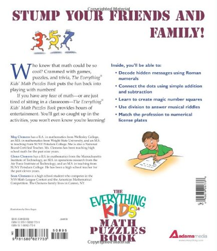 The Everything Kids' Math Puzzles Book: Brain Teasers, Games, and ...