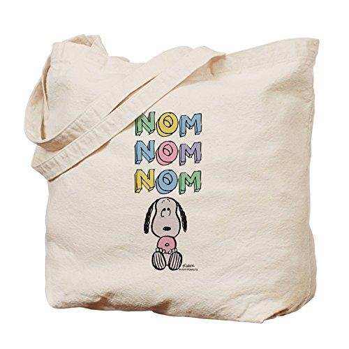 CafePress–Snoopy–nomnomnom–Gamuza de bolsa de lona bolsa, bolsa de la compra