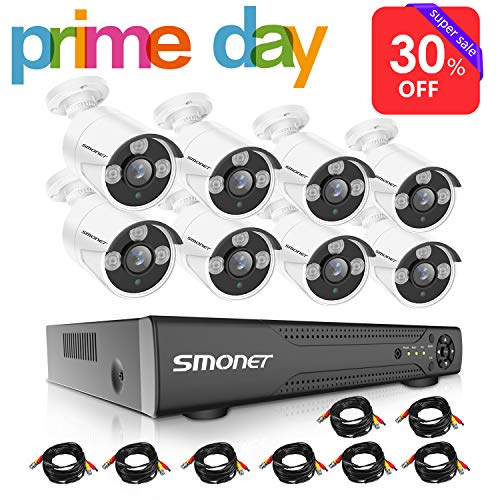 - 【2019 New】16 Channel Security Camera System,SMONET 5-in-1 HD DVR Security Camera System(1TB Hard Drive),8pcs 1080P Outdoor Home Security Cameras,DVR Kits for Easy Remote Monitoring,Super Night Vision