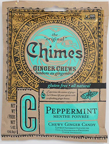 (Chimes Peppermint Ginger Chews, 5-Ounce Bags (Pack of 20))