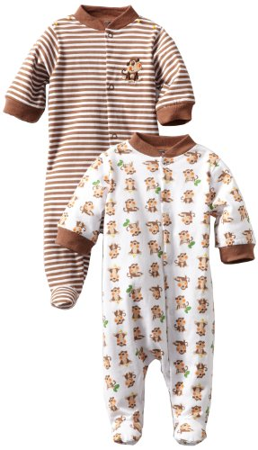 Gerber Baby-Boys  2 Pack Sleep N Play Snap Front Monkey