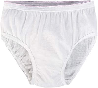 5 bragas de algodón desechables para viajes, hospitales, emergencias, talla XL (color blanco): Amazon.es: Salud y cuidado personal