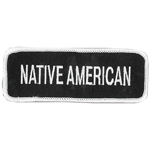 """Hot Leathers, NATIVE AMERICAN - High Thread Iron-On / Saw-On, Heat Sealed Backing Rayon PATCH - 4"""" x 2"""""""
