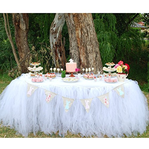 Handmade TUTU Table Skirt Tulle Tableware for Baby Shower Birthday Party Wedding Event Cake Table Girl Princess Decoration