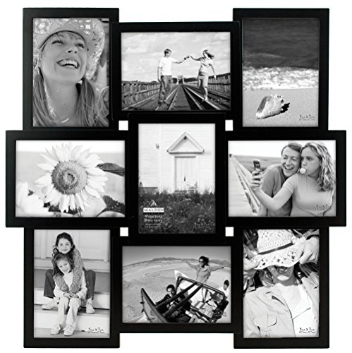Malden International Designs 8304-957 9-OP 5 X 7 Black Puzzle (Picture Frames Collage 5x7)