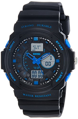 SKMEI Analog Digital Multi Colour Dial Men #39;s Watch   AD0955  BK Blue