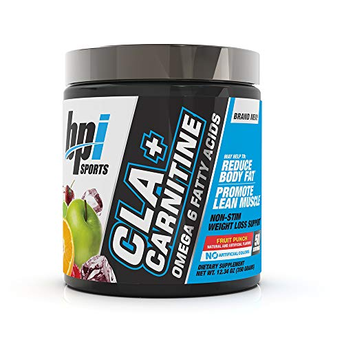 BPI Health CLA + Carnitine - CLA Plus Carnitine - Supports Metabolism - Helps Boost Performance - Non-Stimulant Formula - May Help Reduce Body Fat - Fruit Punch - 50 Servings - 12.34 oz.