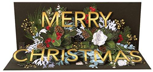 Card Panoramic (Up With Paper Pop-Up Panoramics Sound Greeting Card - Golden Christmas)