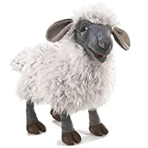 Folkmanis Puppets 3058 Bleating Sheep Hand Puppet, White