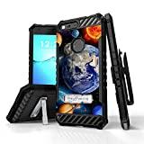 Google Pixel XL Case, Trishield Durable Armor Phone Cover With Detachable Lanyard Loop Holster Screen Protector And Built In Kickstand Card Slot - Solar Planet Galaxy