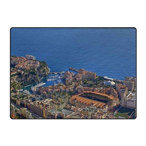 YGUII La Belle Epoque Monaco Top View Gulf Doormats Entrance Mat Non-Slip Indoor Outdoor Floor Door Rug Bathroom Mats Home Decor