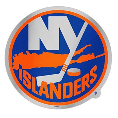 NHL New York Islanders Auto Badge Decal, Hard Thin Plastic ()