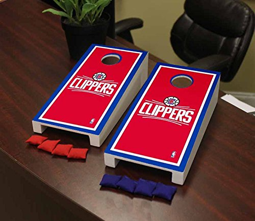 Victory Tailgate Los Angeles LA Clippers NBA Basketball Desktop Cornhole Game Set Border Version by Victory Tailgate