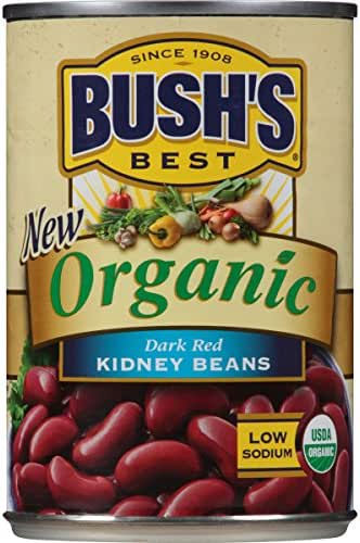 BUSH'S Organic Dark Red Kidney Beans