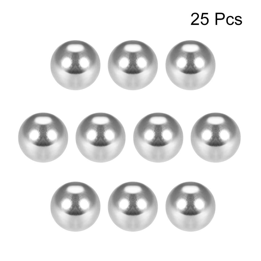 Sourcing Map G25 Roulement /à billes de pr/écision en acier chrom/é 100pcs 1mm