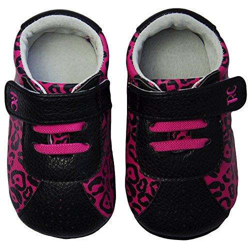 Rose & Chocolat Chaussures Bébé Leopard Rose Runnerz