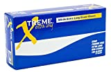 AMMEX - XNPFL46100 - Extra Long Nitrile Gloves - Xtreme - Disposable, Powder Free, 4 mil, Large, Blue (Case of 1000)