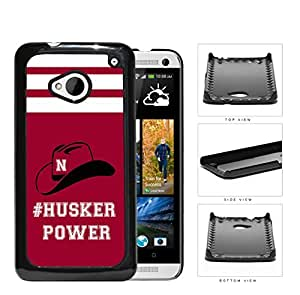 Hashtag Husker Power School Spirit Slogan Chant HTC one M7 Hard Snap on Plastic Cell Phone Cover