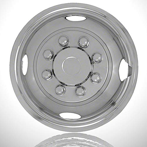 - Elite Auto Chrome Single Front 16' Push-on Polished Wheel Simulators