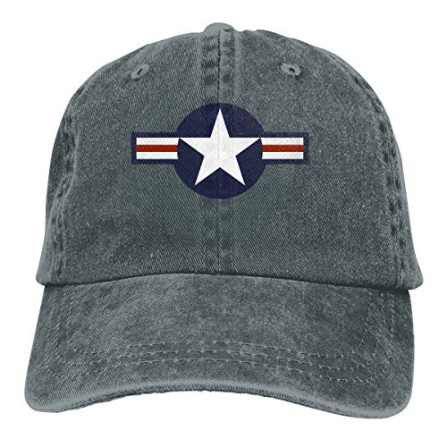 United States Air Force Roundel Adjustable Dad Hats Baseball Caps Trucker Hats Deep Heather
