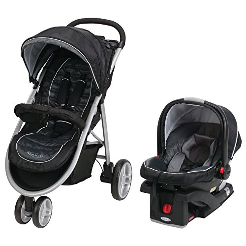 3 Wheel Baby Stroller With Car Seat - 1