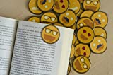 Emoji Smiley Face Emoticon Bulk Bookmarks - 36 Bulk Bookmarks for Kids girl's boys- School Student Incentives – Library incentives – Reading Incentives - Party Favor Prizes - Classroom Reading Awards!