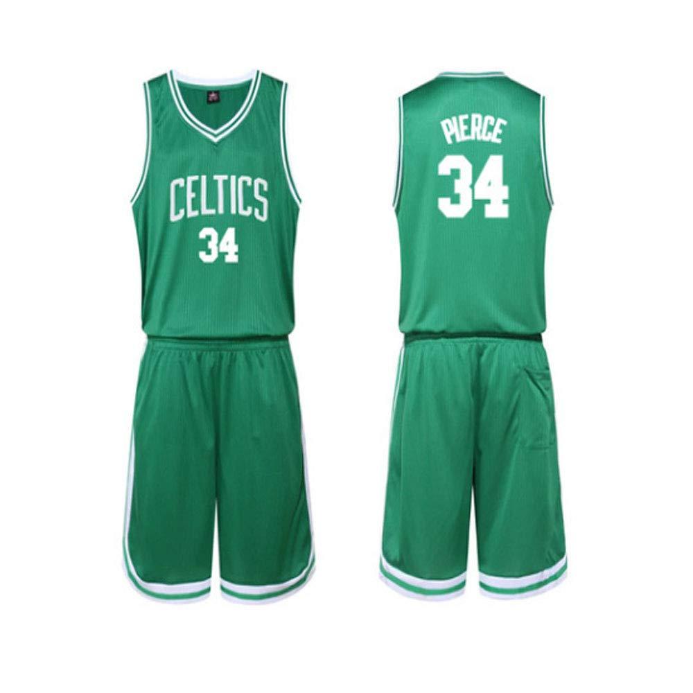 LLYLL Camiseta de Baloncesto para Hombres y niños NBA Celts # 34 ...