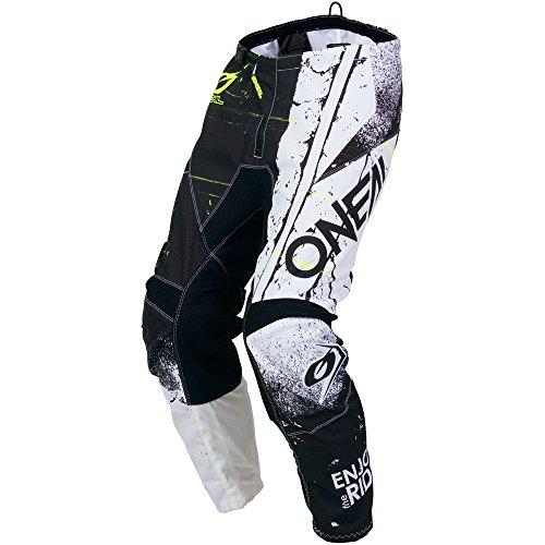 ONeal Element Shred Black Adult motocross MX off-road dirt bike Jersey Pants combo riding gear set Pants W32 // Jersey Medium
