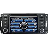2007-2017 Jeep Wrangler In-Dash GPS Navigation DVD CD Player Bluetooth A2DP Audio Streaming 6.5 Inch Touchscreen FM AM Radio USB SD iPod-Ready iPhone-Ready Stereo Deck 07 08 09 10 11 12 13 14 15 16 17 JK AV Receiver