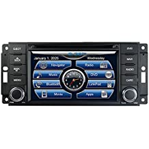 2010-2015 Jeep Patriot 2009-2015 Jeep Compass 2008-2010 Jeep Grand Cherokee 2008-2010 Jeep Commander In-Dash GPS Navigation DVD CD Player Bluetooth A2DP Audio Streaming 6.5 Inch Touchscreen FM AM Radio USB SD iPod-Ready iPhone-Ready Stereo Deck AV Receiver