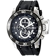 Men's 19251 I-Force Stainless Steel Watch With Black Synthetic Band