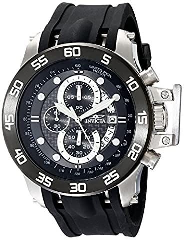 Invicta Men's 19251 I-Force Stainless Steel Watch With Black Synthetic Band - Chronograph Synthetic Sapphire