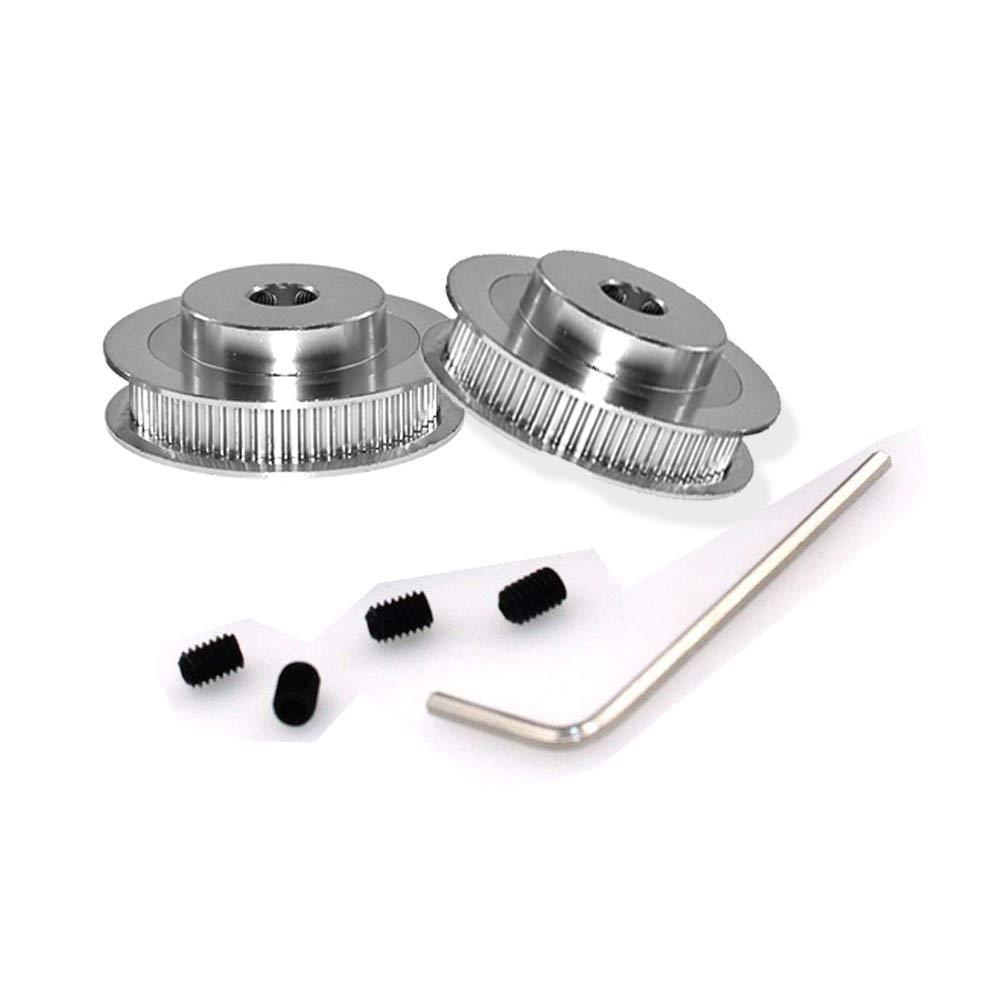 Pack of 5pcs SOOWAY Aluminum GT2 16 Teeth 5mm Bore Timing Belt Pulley for 3D Printer 6mm Width Timing Belt