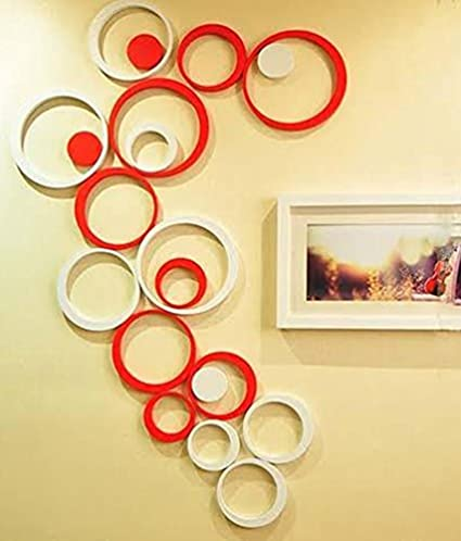 Buy MM Decors High Quality Acrylic 3D Circle Wall Stickers (Colour ...