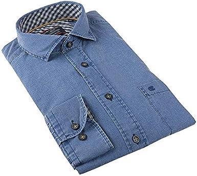 CASA MODA - Camisa casual para hombre, manga regular Azul ...