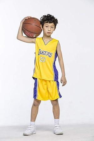 Maillots de Baloncesto para Niños - Conjunto NBA Bulls Jordan#23 / Lakers James#23 / Warriors Curry#30 Camiseta de Baloncesto Chaleco & Pantalones Cortos de Verano para Chicos y Chicas: Amazon.es: Deportes y
