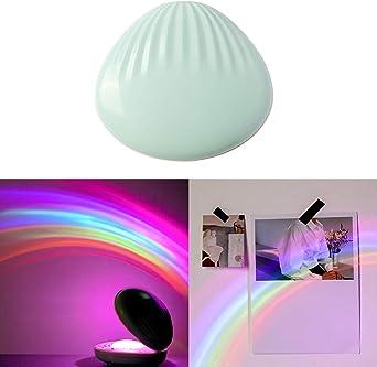 Konesky Luz del Arco Iris, 3D Proyector LED de Luz Nocturna ...