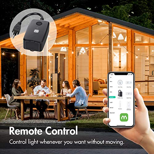 iMagic 15A Smart Plug, Outdoor Wi-Fi Outlet Works with Alexa, Google Home for Voice Control, Remote Control with Smartphone, 15A Max for More Appliances, Timer, No Hub Required, FCC Certified(2 Pack)