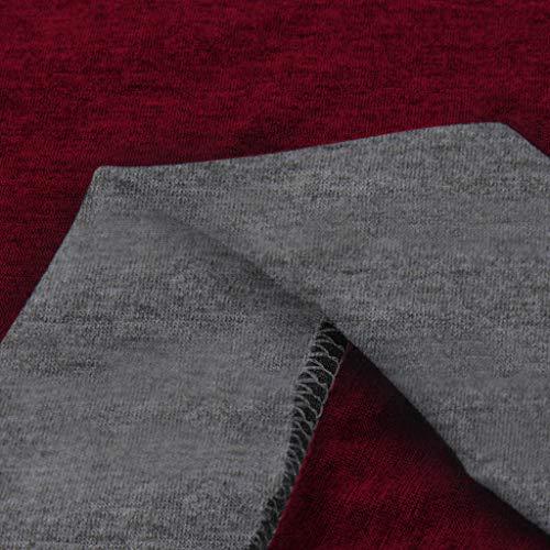 Di In top Cavo Retro Elegante Calzino Moda Camicia Maniche Donna Vestito Sciolto Alto Stile Casual Tuta Lavoro Vino A Girocollo subfamily Da Top Lunghe Sport BAqAT