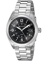 Hamilton Men's H68551933 Khaki Field Analog Display Swiss Quartz Silver Watch