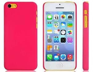 Color sólido del caso plástico protector mate para iPhone 5C (rojo)