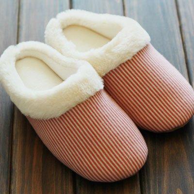 Fankou durante la primavera e in autunno di diamante coppie formato home pantofole uomini e donne pavimento in legno silenzioso fondo morbido cotone pantofole, 35-38, luce scheda per: