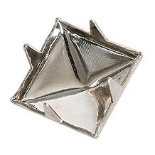 TRIXES 200pcs 7mm Silver Clothing Pyramid Studs Nickel Rivet Leathercraft Bag Belt Punk