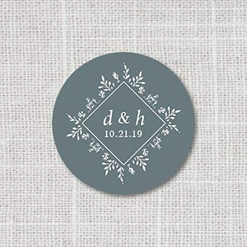 Monogram Wedding Stickers Save the Date Stickers 9:23 Wedding Envelope Seals Floral Wedding Favor Stickers