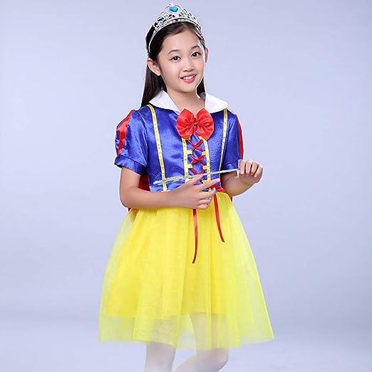YXCM Vestido Rapunzel Belle Disfraz para niña Vestido de niña Gasa ...