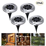 Best Solar Path Lights - Solar Ground Light Outdoor, Pack of 4 Solar Review