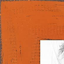 ArtToFrames 18x24 inch Weathered Barnwood in Saturated Orange Wood Picture Frame, WOMSM-ECO150-ORG-18x24